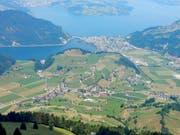 Blick von der Bluematt am Stanserhorn auf Ennetmoos. (Bild Markus von Rotz)