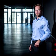 Oscar Lindberg ist der neue EV Zug Stürmer. Der bald 28-Jährige stammt aus Schweden. (Bild: Boris Bürgisser, 3. September 2019)