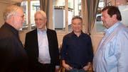 Der Vorstand des neu gegründeten Schachclubs Hergiswil-Stans (von links): David Sonder, Präsident Dominik Popp, Fredy Meier und Urs von Wyl. (Bild: Kurt Liembd (Hergiswil, 12. Januar 2019))