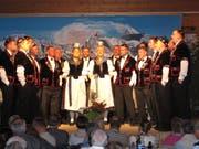 Der Jodlerklub Echo vom Melchtal am Jahreskonzert. (Bild: Otmar Näpflin (Melchtal, 2. November 2018))