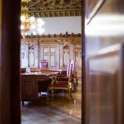 Seit 15 Jahren tagt der Bundesrat ohne Zentralschweizer Vertretung in diesem Sitzungszimmer im Bundeshaus West in Bern. (Bild: Gaetan Bally/Keystone)