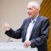 Ständerat Konrad Graber gab am Mittwochabend an der CVP-Delegiertenversammlung seinen Rückzug aus der Politik bekannt. Bild: Eveline Beerkircher (Sursee, 29. August 2018)