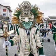 Guuggenmusik Flögglifrösch mit dem Motto Carnevale di Glögglifrösch 50 Jahre am Fasnachtsumzug in Meggen am Sonntag, 3. März 2019.