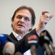 Arno Del Curto bei seiner Vorstellung im Zürcher Hallenstadion. (Bild: Ennio Leanza/Keystone (Zürich, 14. Januar 2019))