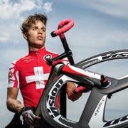 Einer der nominierten Sportler in der Kategorie Nachwuchs; Radsportler Nicolò de Lisi. (Bild: Michel Canonica)