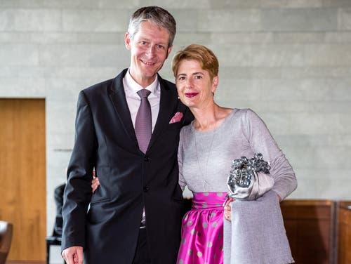 Der Luzerner Tourismusdirektor Marcel Perren war mit seiner Frau Susanne ebenfalls an der Eröffnungsfeier mit dabei. (Bild: Philipp Schmidli, 28. September 2018)