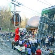 Im April wurde die neue Staubernbahn eingeweiht. Sie hat Chancen auf den Milestone 2018. (Bild: Corinne Hanselmann)