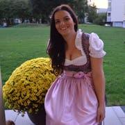 Sabrina Gfall aus Eschlikon überzeugte die Jury am Oktoberfest Tannzapfenland mit ihrer natürlichen Art. (Bild: Christoph Heer)