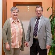 Für Astrid Imfeld ist es auf der Bühne in Udligenswil eine Premiere und für Hans Bucher eine Derniere. (Bild: Boris Bürgisser, 29. Oktober 2018)