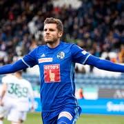 Pascal Schürpf hat beim FC Luzern einen Vertrag unterschrieben, der bis zum 30. Juni 2022 dauert. (Bild: KEYSTONE/Alexandra Wey, 10. Mai 2019)