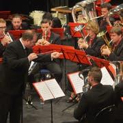 Die Liberty Brass Band Ostschweiz konzertierte im Thurgauerhof-Saal unter der Leitung des Thurgauers Stefan Roth. (Bild: Mario Testa)