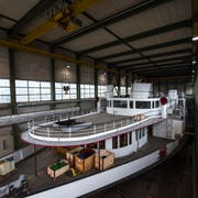 So eng ist es derzeit in der Werfthalle. (Bild: Dominik Wunderli, Luzern, 11. April 2019)
