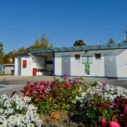 Die Sanitätscontainer im Camping Fischerhaus haben ausgedient. Es wird ein neues Gebäude erstellt. (Bild: Donato Caspari)