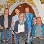 Die Co-Präsidenten des Gegenkomitees (von links): Fritz Streuli (SP), Heinz Schadegg (SVP), Martin Brenner (FDP), Marianne Scherrer (EVP), Lukas Madörin (EDU), Steven Müller (J&A) und Peter Büchel (CVP). (Bild: Mario Testa)