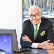 Heinz Belz in seinem Büro in Frauenfeld. (Bild: Donato Caspari)