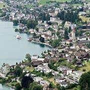 Übersicht über die Gemeinde Weggis. (Bild: Pius Amrein, 20. Juli 2014)