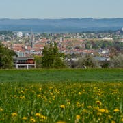 Blick auf Konstanz von der Kreuzlinger Kapelle Bernrain aus. (Bild: Donato Caspari)