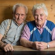 Das pensionierte Bauernpaar Albert und Cäcilia Neff-Sutter in seiner Stube in Gehrenberg bei Schlatt im Kanton Appenzell Innerrhoden. (Bilder: Hanspeter Schiess)