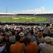Insgesamt 104 000 Zuschauerinnen und Zuschauer verfolgten vor drei Jahren beim letzten «Eidgenössischen» die acht Gänge in der Schwingerarena von Estavayer. (Keystone)
