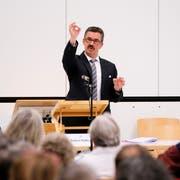 Thals Gemeindepräsident Robert Raths will den Wahlkampf in Rorschach erst Mitte März intensivieren. (Bild: Rudolf Hirtl)