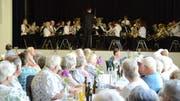 Die Harmoniemusik Flawil hatte einen Melodienstrauss gebunden, der ganz dem Geschmack der Zuhörerschaft entsprach.