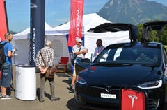 Dieses Tesla-Modell stiess auf besonders grosses Interesse.