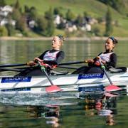 Die Zugerin Patricia Merz (rechts) im Leichtgewichtsdoppelzweier mit Frédérique Rol aus Lausanne. (Bild: Philipp Schmidli, Sarnen, 2. Mai 2019)