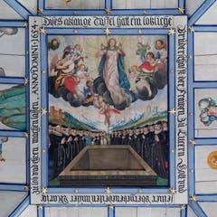 Das grosse Mittelbild zeigt die Aufnahme Marias in den Himmel. (Bild: Nadia Schärli, Obernau, 9. August 2019)
