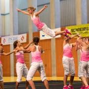 Die Jugend des DTV Laupersdorf zeigt ein anspruchsvolles Programm. (Bild: Roger Zbinden (Zug, 15. September 2018))