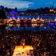 Impressionen vom Blue Balls Festival beim KKL. (Bild Philipp Schmidli, 26. Juli 2016)
