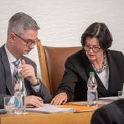 Die neue Spitze des St.Galler Stadtparlaments: Präsidentin Barbara Frei (FDP) und Vizepräsident Beat Rütsche (CVP). (Bild: Urs Bucher - 15. Januar 2019)