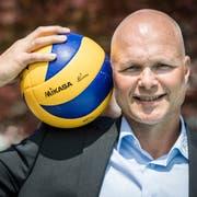 Der niederländische Trainer Marko Klok steht vor seinem ersten Ernstkampf mit Volley Amriswil. (Bild: Reto Martin/Amriswil, 8. Juni 2018)
