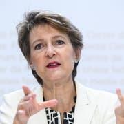 Bundesrätin Simonetta Sommaruga will beim Klimaschutz vorwärts machen. (KEY/Anthony Anex)