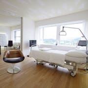 Beispiel eines Excellence-Zimmers im Luzerner Kantonsspital. (Archivbild: Philipp Schmidli)