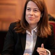 Petra Gössi will in der Klimapolitik auf liberale Lösungsansätze setzen. Bild: Severin Bigler (Bern, 7. März 2019)
