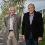 Hugo Waser (rechts) mit seinem Bruder Adolf. (Bild: Boris Bürgisser (Stansstad, 22. Mai 2019))
