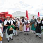 Das Innerschweizer Gesangsfest versetzte vor drei Jahren erstmals Cham in Ausnahmezustand. (Bild: Roger Zbinden, 18. Juni 2016)