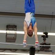 Fabio Gasser am Reck. (Bild: Severin Bigler, Aarau, 16. Juni 2019)