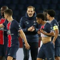 Paris Saint-Germain und sein Trainer Thomas Tuchel gegen RB Leipzig unter Siegzwang
