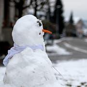 Ob es für einen Schneemann reicht? Es wird sich am Wochenende zeigen, wie viel Schnee im Flachland liegen bleibt. (Bild: Corinne Glanzmann, Altishofen, 6. Januar 2019)