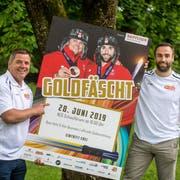 Beat Hefti und Alex Baumann erhalten bald ihre Goldmedaille. (Bild: Michel Canonica)