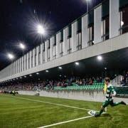 Kein Heimspiel: Der SC Kriens muss im Cup-Viertelfinal im Letzigrund antreten. (Bild: Andy Müller / Freshfocus (Kriens, 27. Oktober 2018))