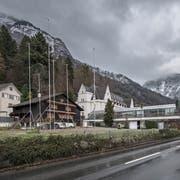 Die Bauparzelle in unmittelbarer Nähe des Parkhotel Vitznau, welche überbaut werden soll. (Bild: Pius Amrein (16. Dezember 2017))