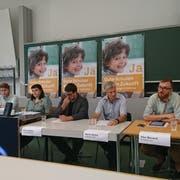 Die Initianten an der Pressekonferenz zur Volksinitiative «Für eine hohe Bildungsqualität im ganzen Kanton». (Bild: Urs-Ueli Schorno, Luzern, 20. August 2018)