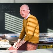 Unterrichtete während 23 Jahren in diesem Schulzimmer: Werner Ottiger. (Bild: Eveline Beerkircher, Hochdorf, 16. Januar 2019)