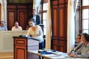 Katharina Alder bei einer ihrer Wortmeldungen im Parlament. (Bild: Sabrina Bächi)