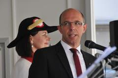 Christoph Amstad bei seiner Begrüssungsansprache.