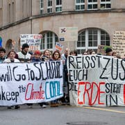 Bald auch in Wil: Klimademo in der Stadt St. Gallen Mitte März. (Adriana Ortiz Cardozo)
