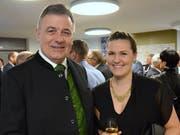Sirnachs Gemeindepräsident Kurt Baumann mit Tochter Angela.