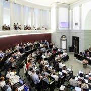Klima-Sondersession des Luzerner Kantonsrats am Montag, 24. Juni 2019, in Luzern. (KEYSTONE/Alexandra Wey)